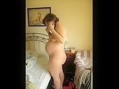 Eight month pregnant wife