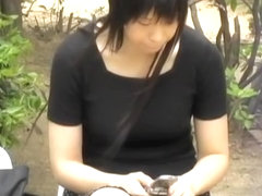 Asian babe in a park grabbed and street sharked in public.