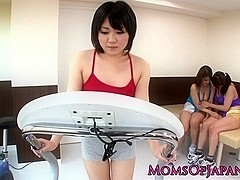 Japanese lesbians toying tight pussy