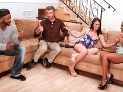 Ashli Ames,Persia Black,Steve French,Nat Turnher in Interracial Swingers #04, Scene #03