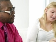 sexy blonde college girl takes BBC #2