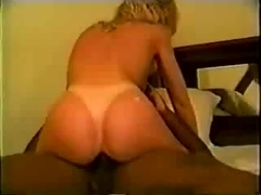 Beautiful MILF gets to play with BBC. Hubby films.