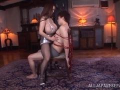 Arousing Asian chick Hitomi Tanaka gets huge tits fucked