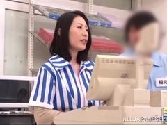 Asian milf is kinky and enjoys public sex