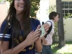 Brunette amateur Cassandra Nix dirty action for money