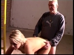 Blond floozy acquire drilled by an old stud