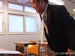 Delicious Ruka Kanae in school uniform gets pussy licking