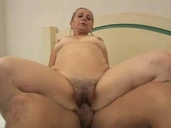 married milf  with petite breasts jumping on a big cock
