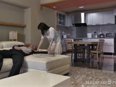 Chihiro Akino naughty Asian housewife does doggy style