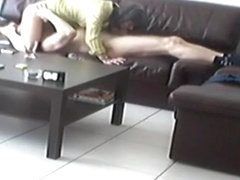 Mature couple homemade 69 sofa sextape