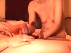 Asian wife has sex in various positions with her husband and gets a creampie inside her hairy pussy