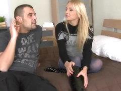 Sexy boy Tony seduces his beautiful girlfriend Ivana Sugar
