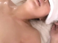 Bosoms massage and wild fuck with horny japanese massagist
