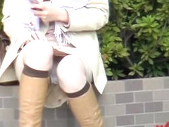Street sharking action with a gorgeous Japanese girl