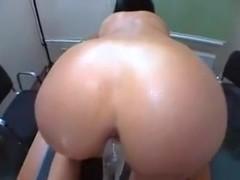 Slut got a huge cumshot facial, after hot anal sex