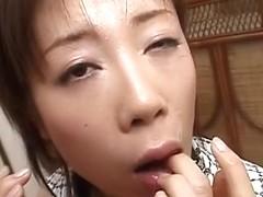 Best Japanese girl in Crazy JAV uncensored Blowjob video