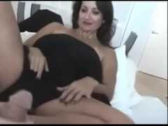 Horny chick in hijab knows how to give a good footjob