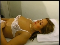 Two doctors and one mature patient have a threesome