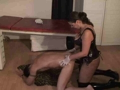 thong-on dominatrix fuck bondman stud