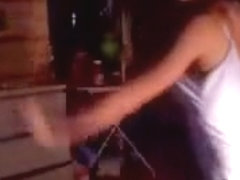 Busty webcam chick dances and strips