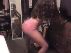 Avid twerk web camera dance clip
