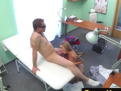 Euro patient gets a load blown inside her