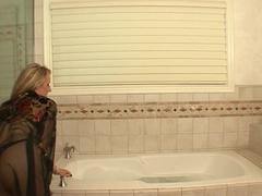 Exotic pornstars Jessie Andrews and Carolyn Reese in hottest hairy, masturbation porn movie