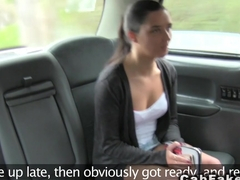 Tight pussy teen bangs in fake taxi