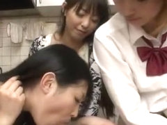 Horny Japanese model in Crazy Group Sex, POV JAV clip