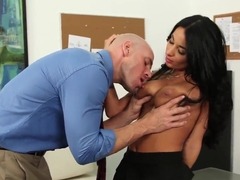 Busty Anissa Kate hard office fuck with Johnny Sins