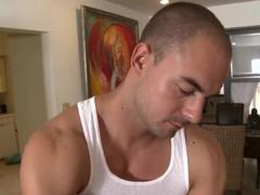 Stunnig blonde Lexi Swallow gets full body massage