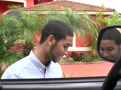 Amateur latina Ariel Monroe gets fimned from car