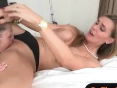 Busty stepmom Tanya Tate hot threesome with her student