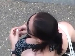 Looking to the neckline of the black-haired girl