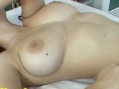 Busty chick fucks hardcore and gets facial at casting