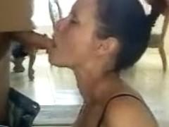 Dark Brown Hair Girlfriend Sucking Husbands Ramrod
