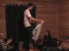 A common game with bottle ends up with wild gals fuck