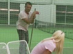 Tennis instructor fucks junior pussy