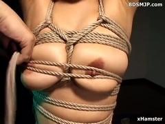 fetish serf fastened and thrashing fetish