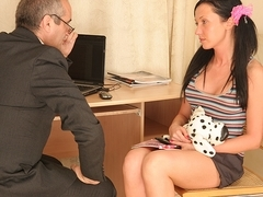 TrickyOldTeacher - Sexy older teacher pounds sexy brunette student with cock and cum