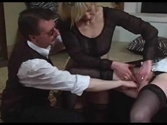 Lady and maid fastened and fisted