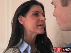 Cum swapping stepmom and daughter tandem