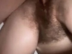 Very hairy pussy dicked shitless
