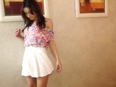 Sexy Latina Amateur with Mini Skirt