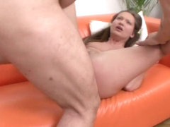 Stasia spreads her cheeks for an anal drilling