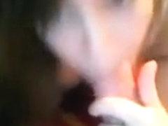 Angel blows Boyfriend on Web Camera