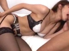 Best Japanese girl Sara Serizawa in Incredible Stockings/Pansuto JAV clip