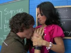 Latina wife Franceska is the hottest teacher