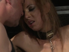 Naughty babe with small tits Essy likes BDSM