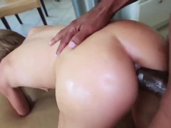 Natasha White gets nailed by black bull